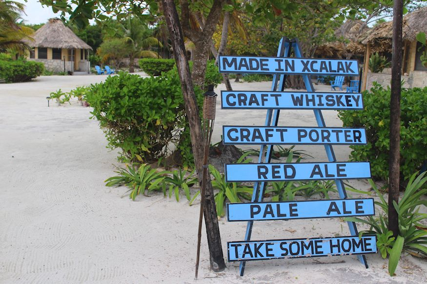 Craft beer made in Xcalak