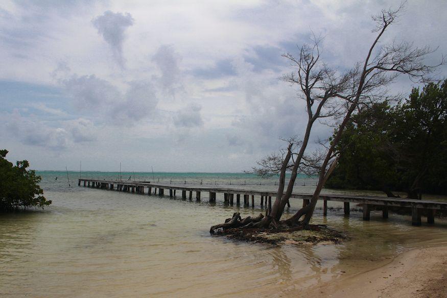 Dock into Caribbean Sea