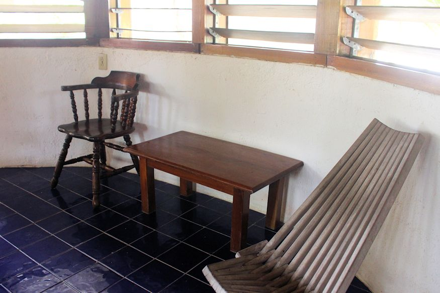 Chairs on a tiled floor