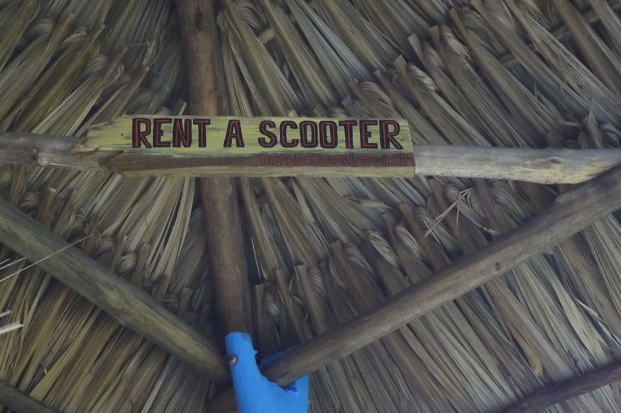 Rent a scooter at Cocos