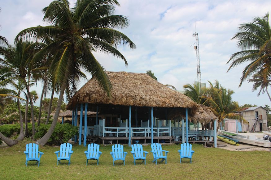 Relaxing chairs at Cocos Reel Inn