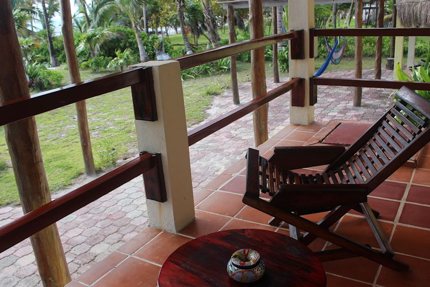 Balcony chair at Hotel Tierra Maya