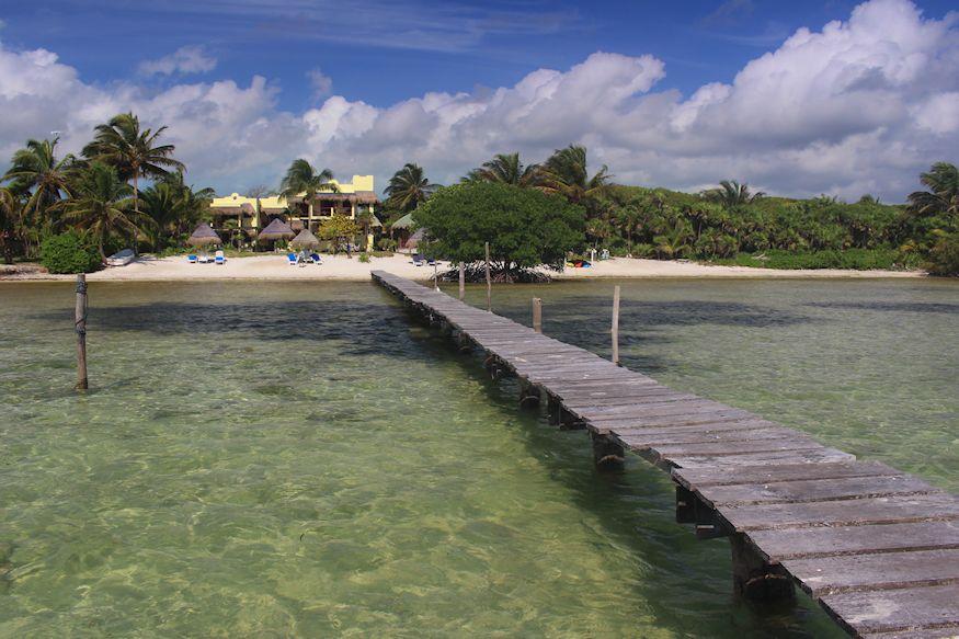 Dock at Hotel Tierra Maya