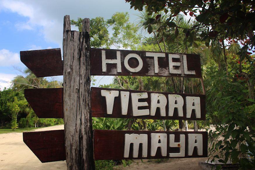 Hotel Tierra Maya Sign Xcalak