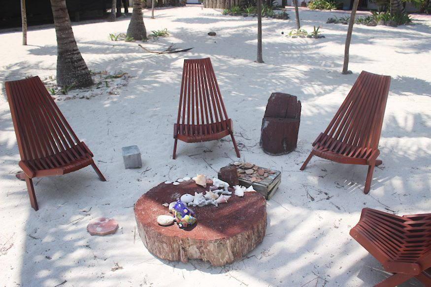 Group beach chairs