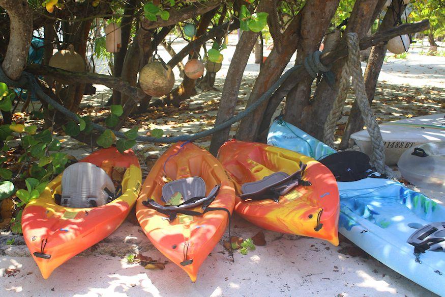 Kayaks and water tube
