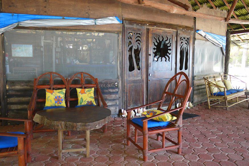 Restaurant chairs at Playa Sonrisa