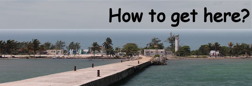 How to get here xcalak village pier