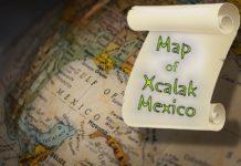 Gulf Mexico Xcalak Map