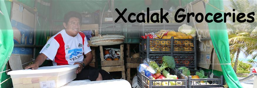 Xcalak groceries - a look inside a grocery truck