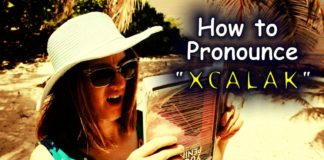 "Video - traveller looking confused, wondering How to Pronounce ""Xcalak"""