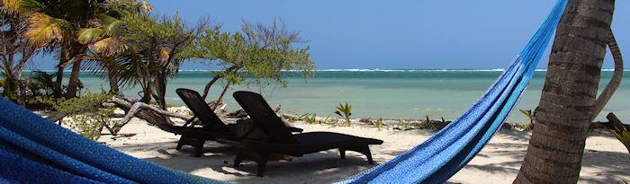 Beach chairs and hammock