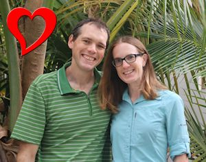 Heather and Tim with Heart