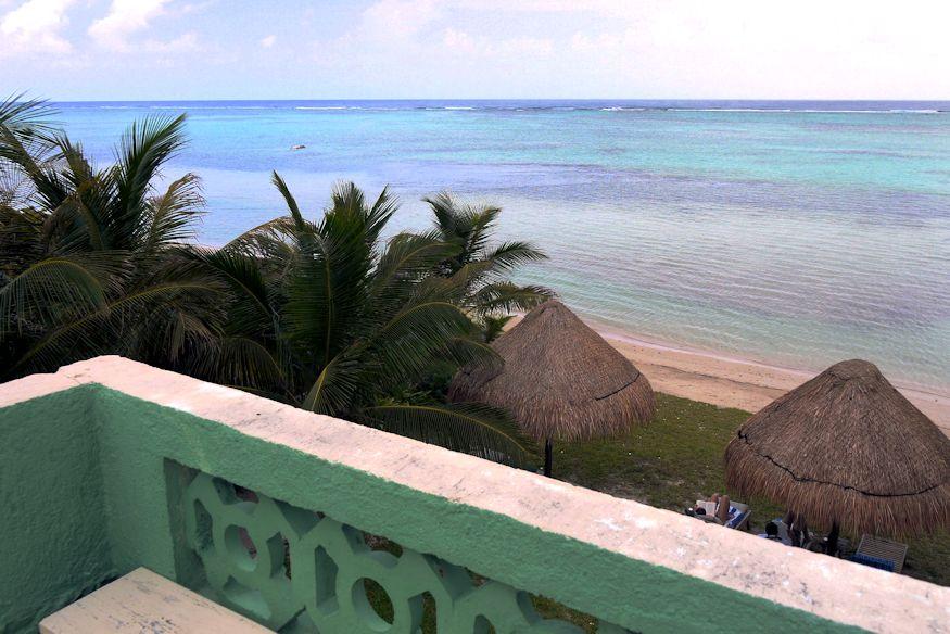 View from the rooftop patio at Casa de Suenos