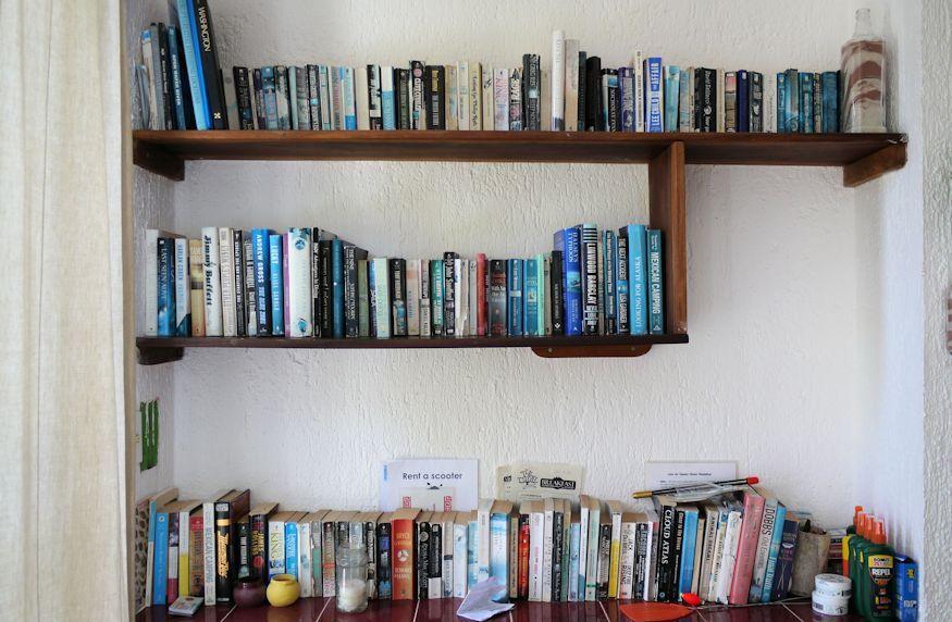Casa de Suenos book shelf