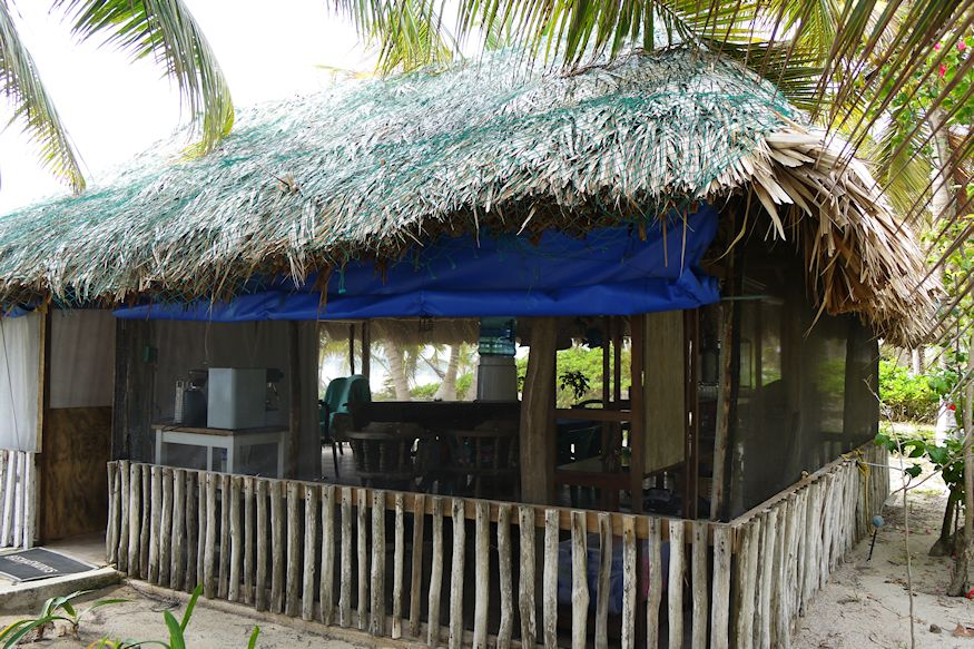 Palapa dining area for Acocote Guests