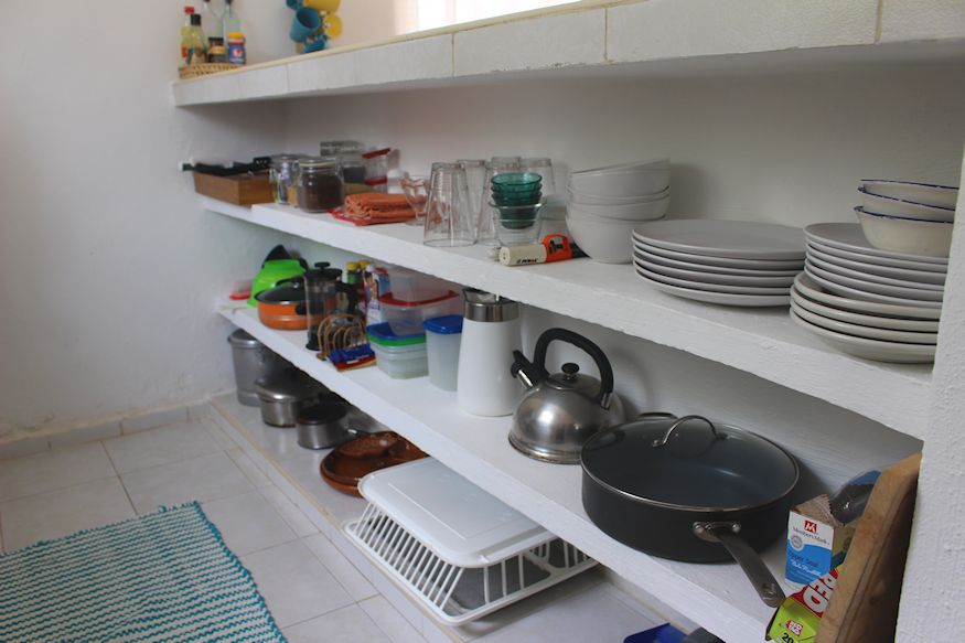 Fully stocked kitchen supplies
