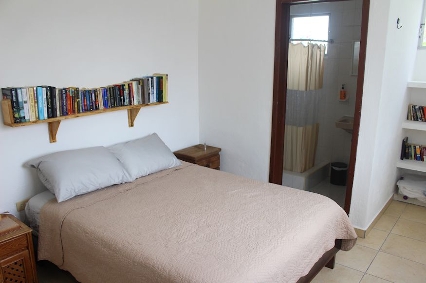 Master bedroom at Acocote Eco Inn