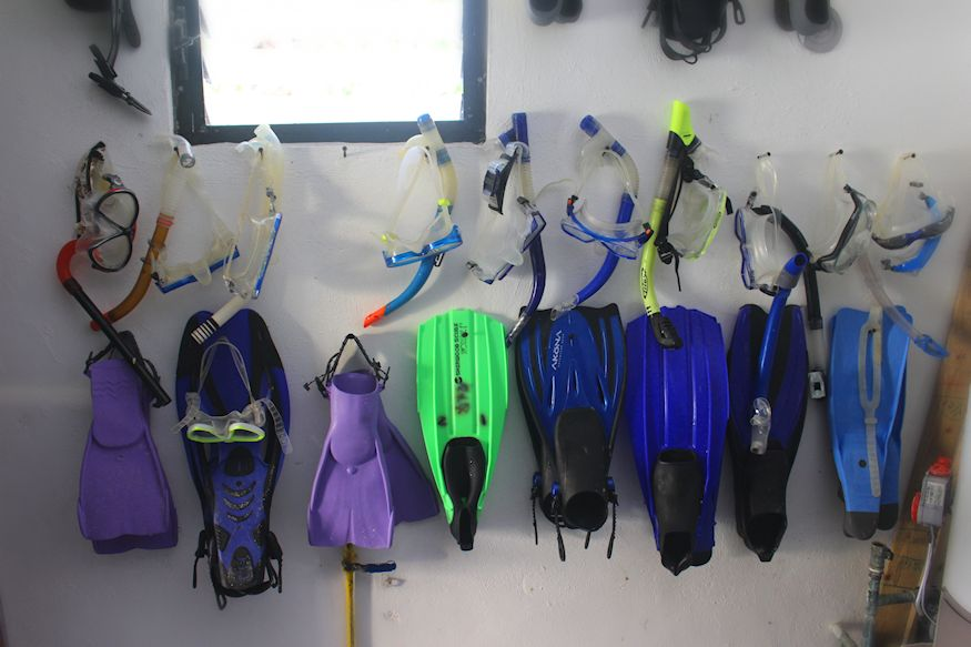Snorkel gear at Casa Paraiso