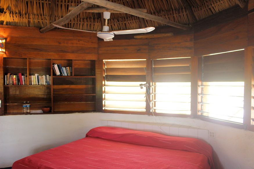 King Bed at Cocos with Ceiling Fan