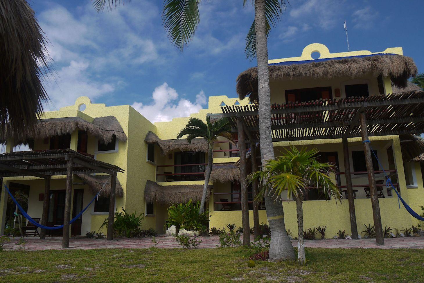 Hotel Tierra Maya from Beach