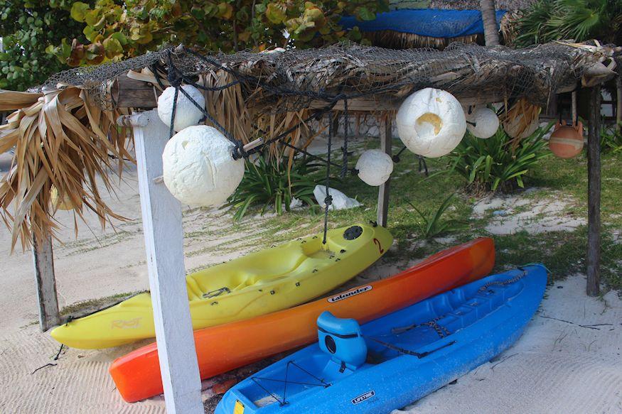 Kayaks at Tierra Maya