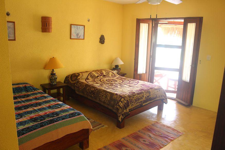 Two beds in Hotel Tierra Maya