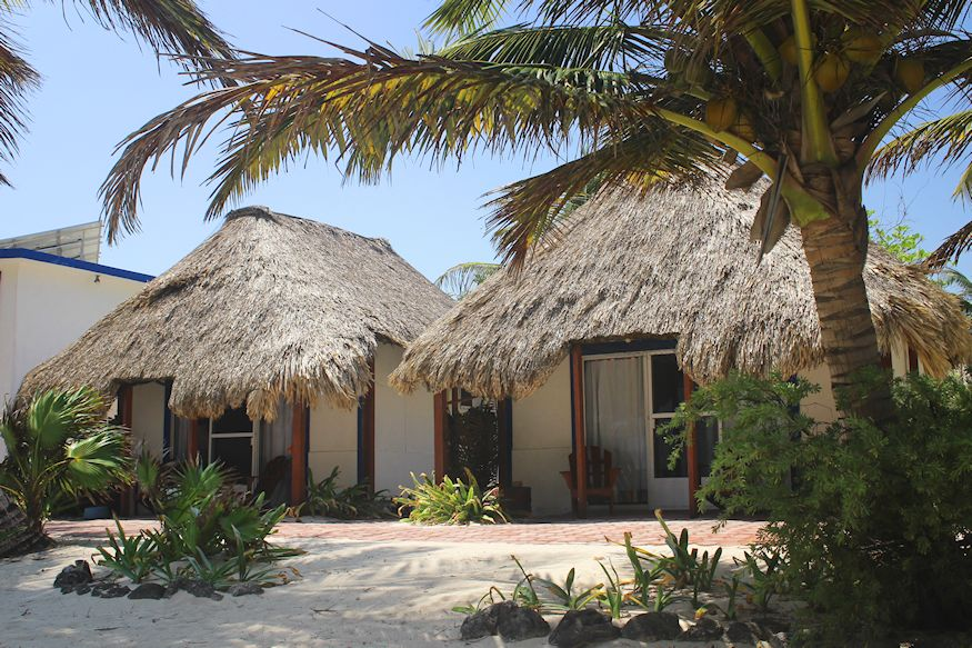 Beach bungalows at Playa Sonrisa