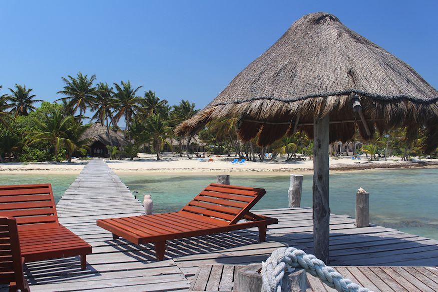 Playa Sonrisa covered dock chairs