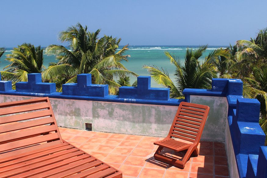 Rooftop patio in Yucatan