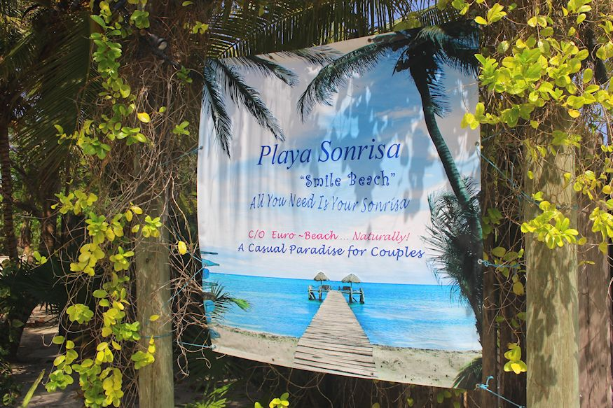 Playa Sonrisa front sign