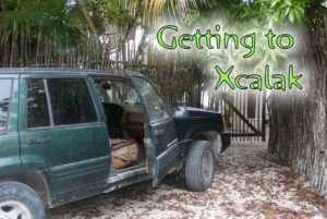 Getting to Xcalak - truck ready to hit the road