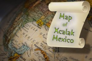 Gulf Mexico Xcalak Map