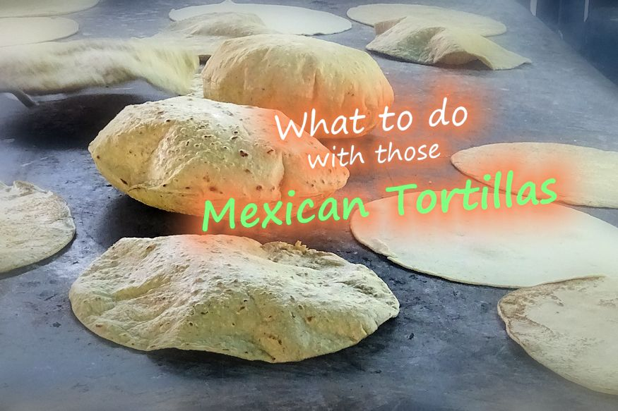 Mexican tortillas on stove top