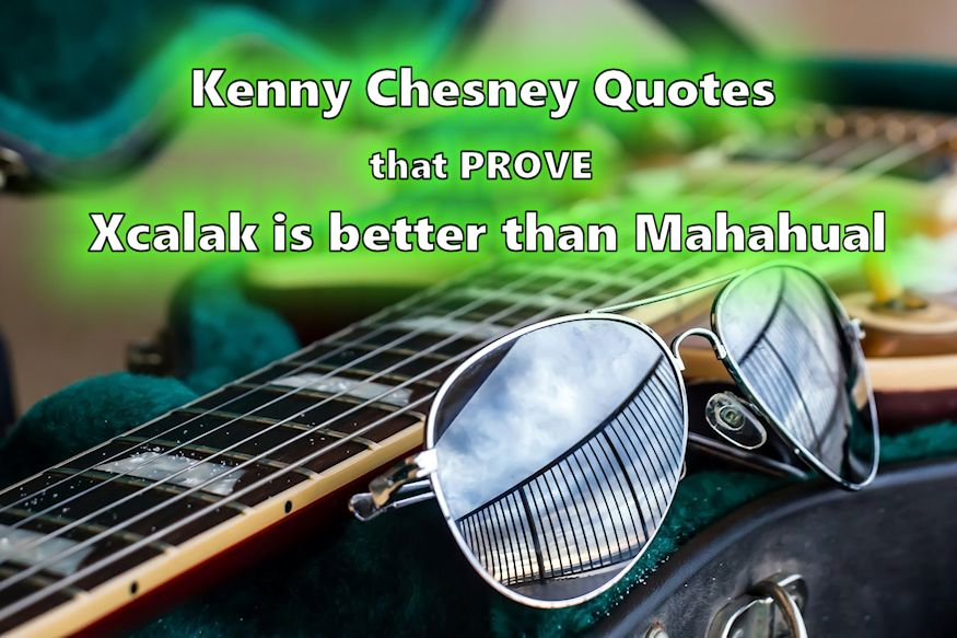 Sunglasses and guitar Xcalak Chesney quotes