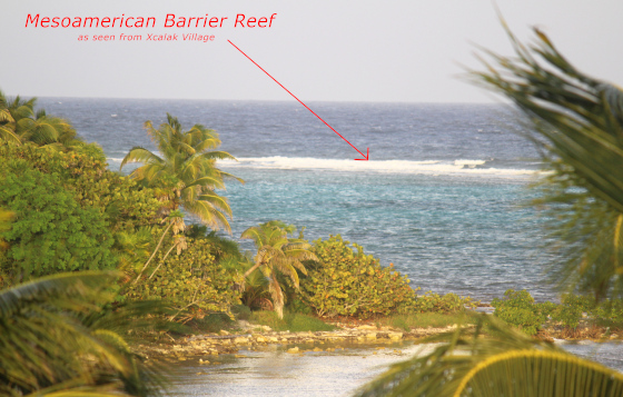 Mesoamerican Barrier Reef seen from Xcalak